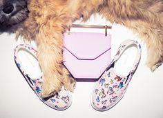 Pastel unicorn stamped slip-ons & a puppy that make us equally week in the knees.  http://www.thecoveteur.com/spring-accessories-2015/