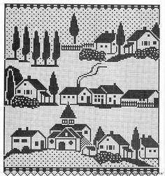 Картинки по запросу схемы для жаккарда домики