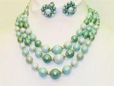 Japan Demi necklace & earrings...Retro