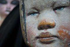 """HUMANOID SERIES 2012/ MARIANA MONTEAGUDO. Hard latex,mixed media. """"Bow-Girl""""."""