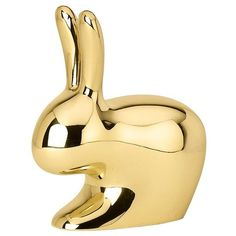 Ghidini1961 Home Rabbit Paperweight (5,550 DOP) ❤ liked on Polyvore featuring home, home decor, office accessories, decor, filler, gold and gold office accessories