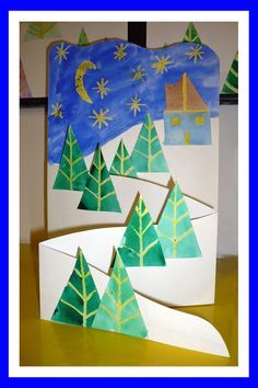 Www pripravy estranky cz fotoalbum 02 nÁmĚty do vv náměty do vv a pv č 2 Christmas Crafts For Kids, Christmas Activities, Christmas Art, Winter Christmas, Holiday Crafts, Arte Elemental, Winter Art Projects, Theme Noel, Teaching Art