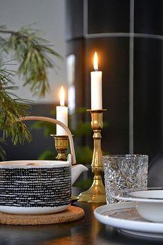 Hyvä Joulumieli - vuoden tärkein blogihaaste! Nordic Christmas, Christmas Time, Christmas Things, Kitchenware, Tableware, Marimekko, Tis The Season, Scandinavian Style, Tea Lights