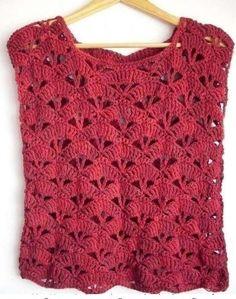 Débardeurs Au Crochet, Moda Crochet, Crochet Woman, Filet Crochet, Crochet Baby, Crochet Granny, Crochet Jacket, Crochet Blouse, Crochet T Shirts
