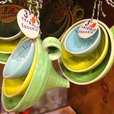 Ceramic funnels!!