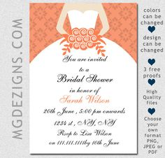 73 best invitations bridal shower images on pinterest bridal printable beautiful coral bridal shower invites filmwisefo