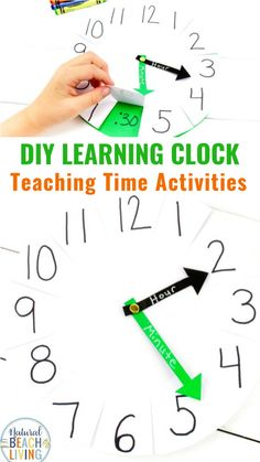 How to Make a Clock to Teach Time - Natural Beach Living