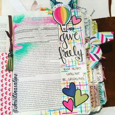 Bible Journaling by Christina Lowery @christinasalive   Deuteronomy 15