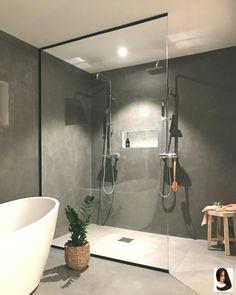 Master Bathroom Remodel Ideas No Tub around Bathroom Vanities Blue both Bathroom Vanities James Martin; Bathroom Design Ideas For Small Spaces In India Minimalist Bathroom Design, Modern Bathroom Design, Modern Design, Bathroom Designs, Bath Design, Modern Minimalist, Minimalist Design, Kitchen Design, Grey Bathrooms