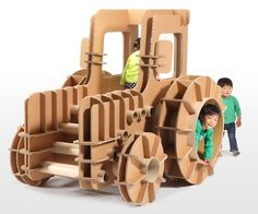 Japanese Company Creates Cardboard Furniture For Kids - DesignTAXI.com
