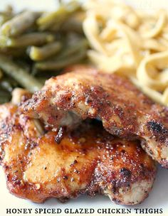 Honey Spiced Glazed Chicken by Nutmeg Nanny
