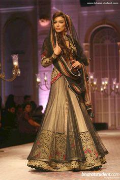 Beautiful #Lehenga by former Model, Designer http://www.MandiraWirk.in/ at India Bridal Fashion Week 2013