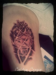 My tattoo wolf!!
