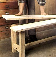 Comment fabriquer un banc? Making a bench – How to make a wooden bench?