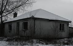 Abandoned house, between Woolley and Hall Green, January 2013