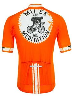 df8e0e967 Miles are my Meditation Men s Orange Cycling Jersey