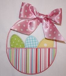 Easter Basket Applique - 3 Sizes!   Easter   Machine Embroidery Designs   SWAKembroidery.com Applique Cafe