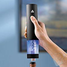 Wine Enthusiast Electric Push-Button Corkscrew (Black) at Wine Enthusiast - $24.99 #WineEnthusiast