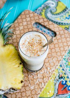 Roasted Pineapple Coconut Milkshake from @lindseyjohnson #MilkshakeWeek.  I'm not a vegan - but I'm all over this. :)