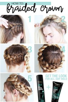 How to get the look a dutch crown braid — photo 2