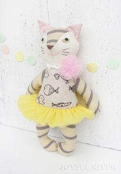Ballerina cat doll - Custom order handmade by Joyful River on Etsy https://www.etsy.com/shop/JoyfulRiver