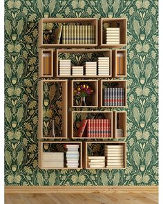 "2,223 Likes, 15 Comments - Bookish Journals & Stationery (@manuscriptshop) on Instagram: ""Imagine waking up to this #bookshelf for Christmas!"""