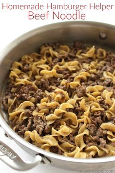 Homemade Hamburger Helper Beef Noodle - just a few simple ingredients for this weeknight meal. Homemade Hamburger Helper Beef Noodle - just a few simple ingredients for this weeknight meal. Egg Noodle Recipes, Pasta Recipes, Dinner Recipes, Cooking Recipes, Paleo Dinner, Recipes With Egg Noodles, Dinner Healthy, Cooking Tips, Hamburger Helper Maison