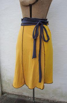 Custom Eco Wrap Skirt/ Upcycled TShirt Wrap by RebirthRecycling