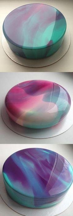 [I Ate] Mirror Glazed Cake Perfection Food Recipes Cake Decorating Tips, Cookie Decorating, Cake Decorating Amazing, Cookie Cake Decorations, Food Cakes, Cupcake Cakes, Mirror Glaze Recipe, Mirror Glaze Icing, Gateaux Cake