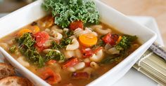 White Bean and Vegetable Soup 570x299 White Bean and Vegetable Soup. This is another great meal because if I don't have one ingredient, I know there's an easy substitute in my fridge. This soup has changed over the years. Below is my current version. I serve this with warm bread and a simple salad or sautéed broccolini with a squeeze of lemon and a sprinkle of sea salt.