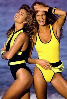 The History of Neoprene: From Function to Kathy Ireland and Elle Macpherson made neoprene sexy for Sports Illustrated Elle Macpherson, Kathy Ireland, Sporty Swimwear, Swimwear Fashion, Miuccia Prada, Surf, 90s Models, Female Actresses, Famous Models