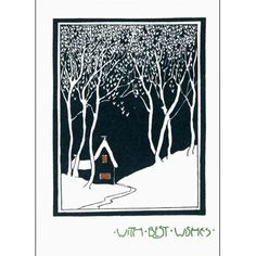 House in the Snow, Card from the George Buday archive. Anonymous, Britain, 1927.