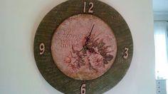 something to create: Clocks Clocks, Decoupage, Decorative Plates, Create, Wall, Home Decor, Watches, Clock