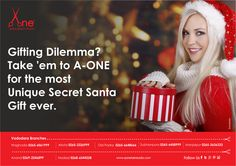 For all Secret Santas out there, A-ONE is the Solution for your Gifting Dilemma. #festival #gift #christmas