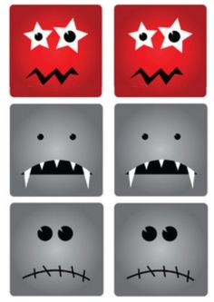 Mémori des monstres - Planche n°2