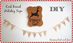 Cork Board Holiday Sign {DIY}