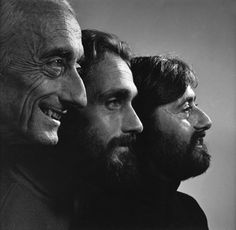 The Cousteaus 1972 by Yousuf Karsh
