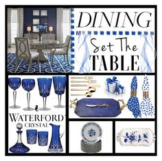 """""""Waterford Crystal"""" by summer-marin ❤ liked on Polyvore featuring interior, interiors, interior design, home, home decor, interior decorating, Michael Aram, Waterford, Threshold and Oscar de la Renta"""