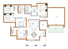 Cool Concepts of How to Upgrade 4 Bedroom Modern House Plans Cool Concepts of How to Upgrade 4 Bedroom Modern House Plans - 56 Inspiring Modern Ranch House Ideas > Fieltro.Net 4 Bedroom House Plan – My Building Plans South Africa 4 Bedroom House Plan Four Bedroom House Plans, Tuscan House Plans, Floor Plan 4 Bedroom, Family House Plans, Free House Plans, Small House Floor Plans, Garage House Plans, House Plans South Africa, Br House