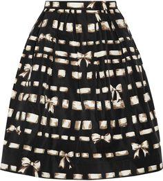 REDValentino Printed taffeta skirt  | ≼❃≽ @kimludcom