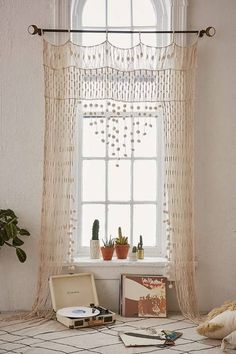 14 Decor Ideas To Instantly Upgrade Your Windows: Bohemian Crochet Window Treatment
