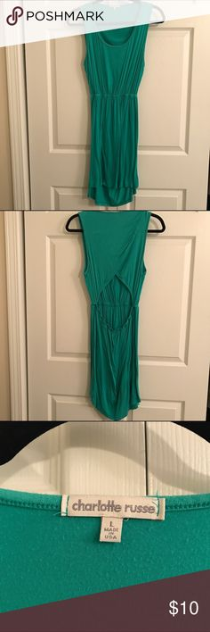 Charlotte Russe Teal Dress Size Large. In good condition. Open back. From a smoke free and pet free home Charlotte Russe Dresses