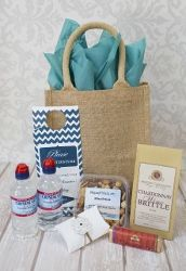 Napa Welcome bag for out of town guests! Wedding Gift Bags, Wedding Gifts For Guests, Wedding Welcome Bags, Welcome Baskets, Sonoma Wine Country, Guest Gifts, Jute Bags, Paper Shopping Bag, Destination Wedding