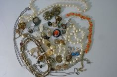 Vintage Jewelry Collection De-Stash Piece and Parts of Jewelry for Upcycle Recycle for Jewelry Making 50 Pieces 1960s by ZoomVintage on Etsy