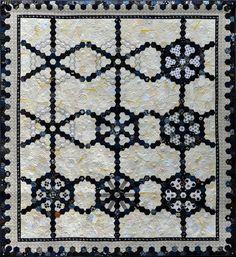 """Hexagon Harmony""ヘキサゴンハーモニ 13th Japan Quilt Exhibition Traditional department.Winning  第13回キルト日本展入賞 Nakazawa Felisa 中沢フェリーサ"