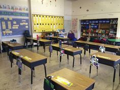 classroom organization - hanging bags, storage boxes, etc