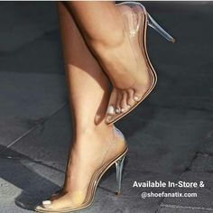 Live out every single fashion fairy tale in our Katie cinderella clear transparent pointy toe heels. Prom Heels, Sexy Heels, Stiletto Heels, Zapatos Shoes, Shoes Heels, Footwear Shoes, Vans Shoes, Adidas Shoes, Womens Shoes Wedges