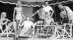 Ocean City, NJ, summer 1954: Grace Kelly relaxes with family at the Kelly summer home and enjoys a good hand of bridge. Pictured (L to R) are: Lizzanne (knitting), Peggie, Mrs. John B. Kelly Jr., Jack Kelly Jr., brother-in-law George Davis, Grace Kelly (holding cards), and Mrs. & Mr. John B. Kelly.