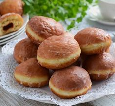Traditional donuts with marmalade - Marmalade, Pretzel Bites, Donuts, Cake Recipes, Muffin, Bread, Cookies, Food Cakes, Cake Pop