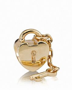PANDORA Charm   14K Gold Key to My Heart